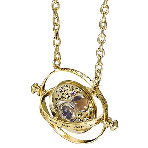 Harry Potter Time Turner Golden Pendant For Girls
