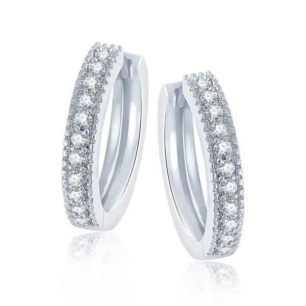 Sterling-Silver Stud Earring For Women White