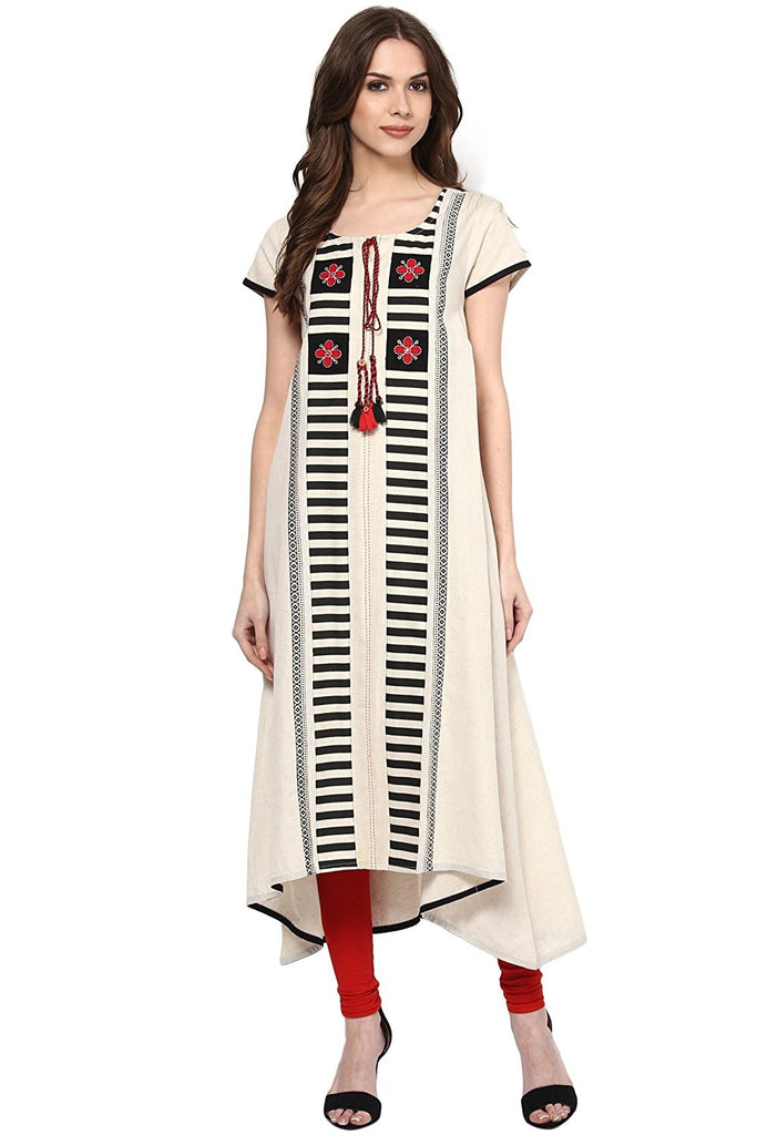 d97d17b30f7 Buy Online Latest Designer Pantaloons Women s Cotton Flex Kurta – Lady India