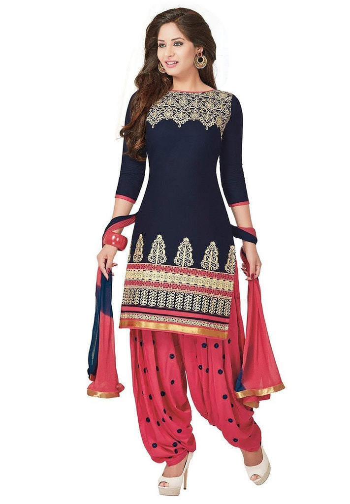 Shop Online Exclusive Designer Dress Material Salwar Suit Dupatta Set Lady India
