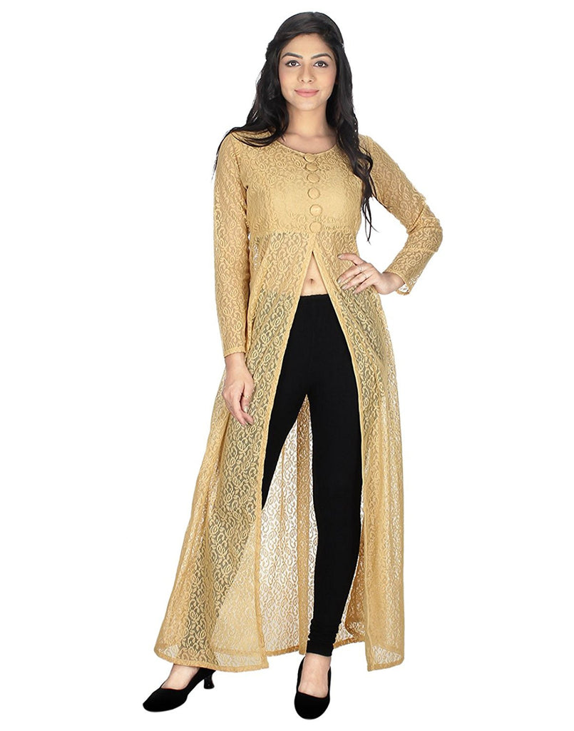 1281bf65039 Get Online Latest Designer Women Net Front Slit Kurti – Lady India