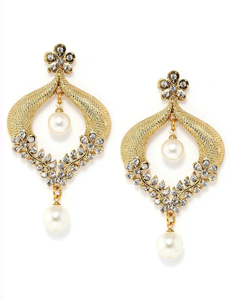 Designer Jewellery Gold-Plated Dangle & Drop Earrings For Girls