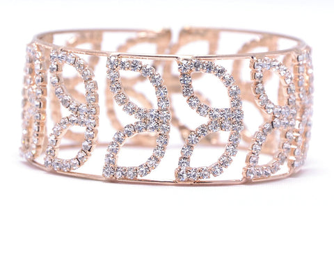 Designer American Diamond Gold Stylish Adjustable Bracelet For Girls & Women