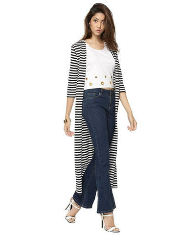 long-shrugs-online-black-&-white-striped-maxi-shrug-designer-cape