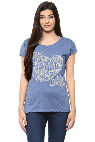 Daily Wear Tops Navy Blue Polycotton Top For Girls Ladyindia1