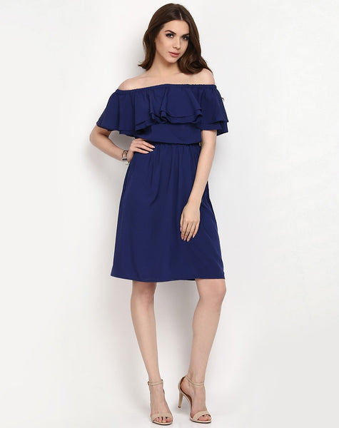 online-dresses-off-shoulder-ruffle-sleeve-royal-blue-dress