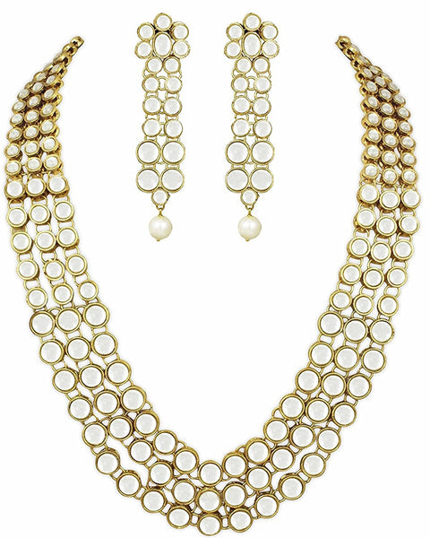 Gold Plated Kundan Necklace Set Jewellery Set For Women
