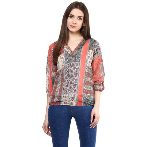 Multicolor Printed Tops For Girls Ladyindia62