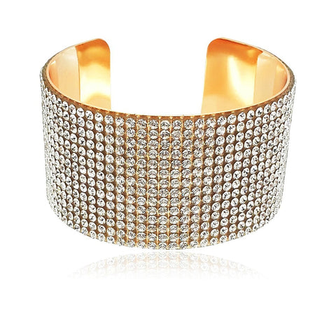Designer Gold Plated Bangles Crystal Jewellery Bangle / Bracelet For Girls And Women