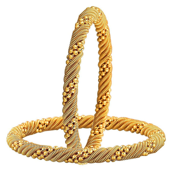 Designer Jewellery Traditional Gold Plated Bracelet Bangle Set For Girls And Women
