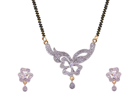 American Diamond, Cz, Designer Mangalsutra Set/ Artificial Jewellery Set For Women