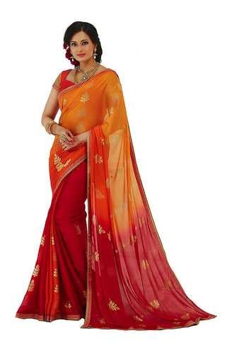 Georgette Sarees Party Wear/Fancy Georgette Sarees/Embroidered Georgette Sarees