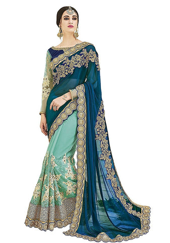 fs-32-diwali-special-heavy-embroidered-festival-sarees-with-embroidered-blouse-piece