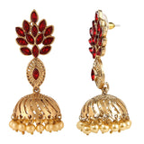 Red Color Alloy Dangler Earring For Women