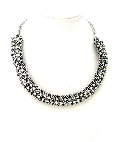 Silver Color Necklace Set Silver Necklace For Women