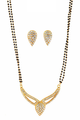 Latest Designer Jewellery Gold Plated Mangalsutra Set For Women