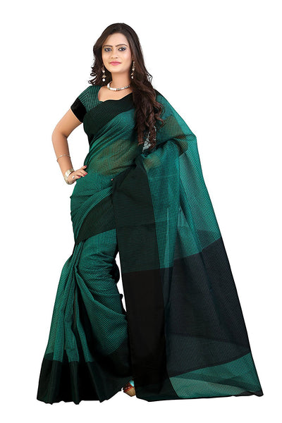 Cotton Saree With Check Print Work S047