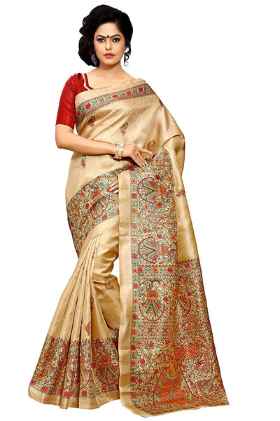 Pure Khadi Silk Sarees With Floral Print Work  S024