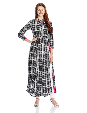 Latest Designer A-Line Kurta With Leggings - Designer Kurtis