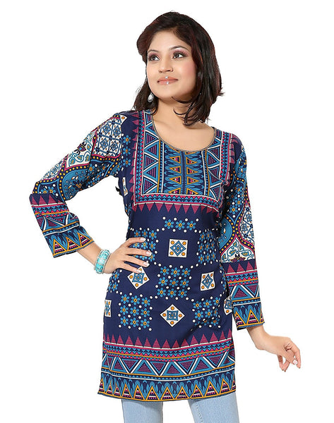 Multi Color Digital Printed Short Kurtis K37