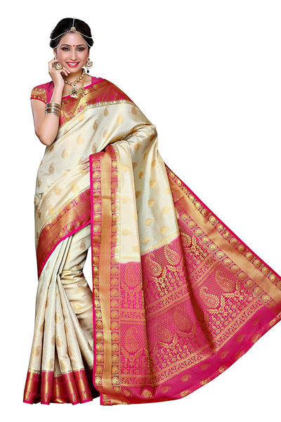 Traditional Art Silk Saree Kanjivaram Style