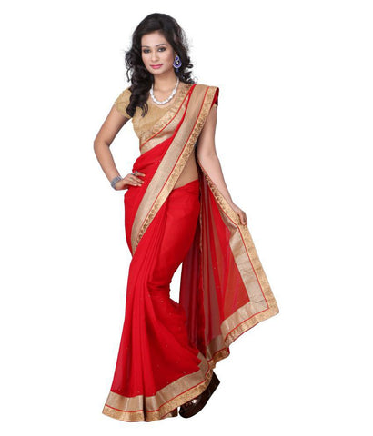 fs-10-festival-special-sarees-bridal-red-saree-with-golden-border-and-tiny-stone-design-for-women
