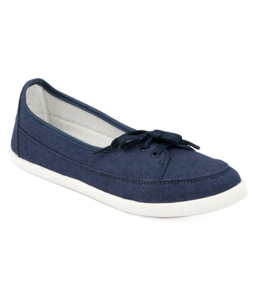 Designer Blue Denim Sneakers Casual Footwear Canvas Shoes For Girls