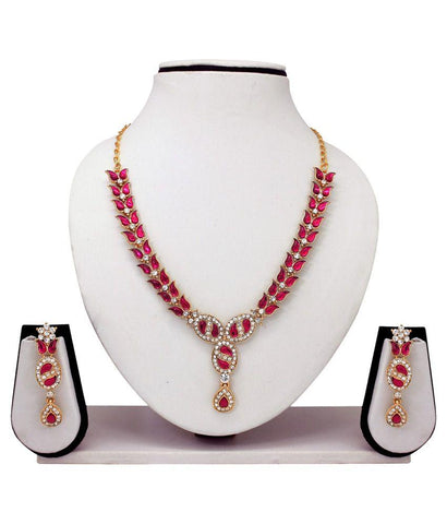 Festive Party Special Jewelry Designer Pink Necklaces Set Deepawali Collection
