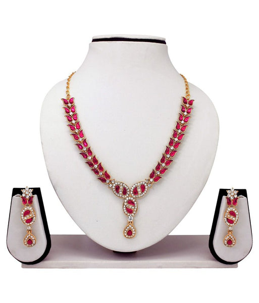 Festive Party Special Jewellery Designer Pink Necklaces Set Deepawali Collection