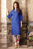 Buy Denim Kurti Online Blue Printed Denim Kurtis For Womens