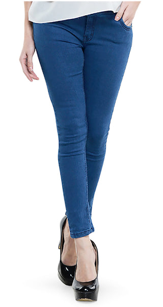 Womens-No-Zip-Ankle-Length-Jeans