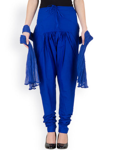 Leggings And Dupatta Set Blue Color Cotton Leggings Dupatta Set For Girl LS97