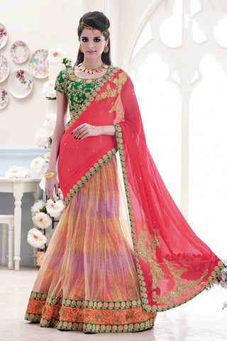 Chiffon & Net Party Wear Lehenga Saree
