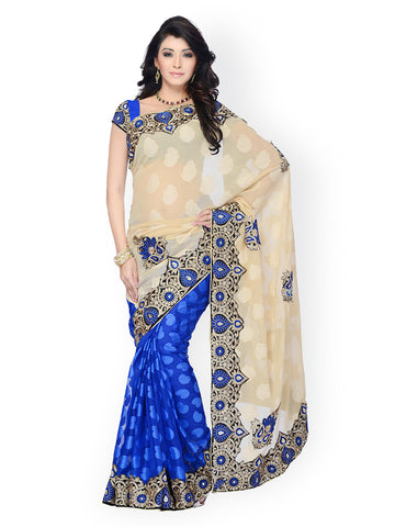 fs-5-half-&-half-style-festival-sarees-embroidered-lace-border-with-ethnic-print-jacquard-sarees