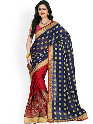 fs-1-designer-jacquard-sarees-golden-embroidered-border-and-circle-print-festival-sarees