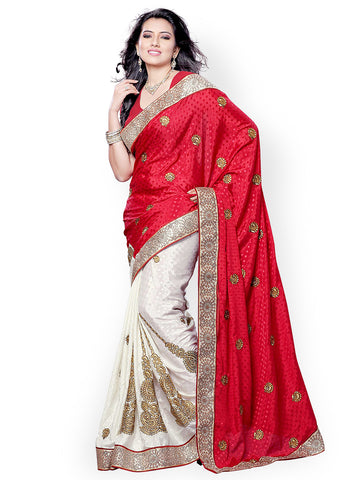 fs-2-bridal-jacquard-sarees-silver-border-with-golden-embroidery,-patch-&-booti-design-festival-sarees