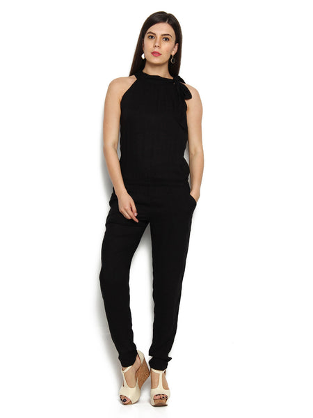 Designer Black Jumpsuit For Girl