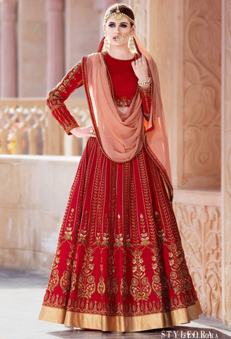 Deep Red Designer Lehenga Wedding Wear Red Lehenga Choli