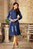 Denim Long Kurtis Online Blue Shade Print New Denim Kurti