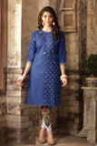 Designer Denim Kurti Blue Denim Print Kurtis For Girls