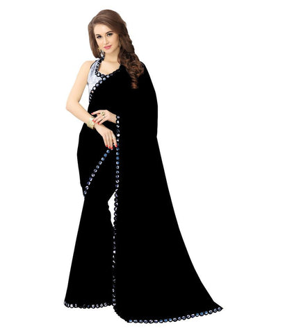 fs-17-georgette-sarees-black-mirror-border-work-festivals-sarees-with-silver-embroidered-blouse