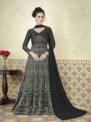 Exclusive Bridal Anarkali Suits Printed Salwar Suit Floor Length Designer Anarkali Suits