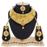 Exclusive Bridal Jewelry Online Golden Color Necklace Set