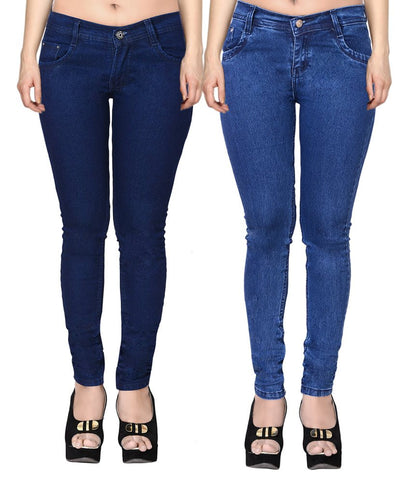 Flyjohn-Blue-Cotton-Lycra-Jeans