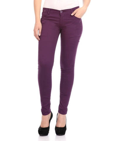Flyjohn-Purple-Cotton-Lycra-Jeans