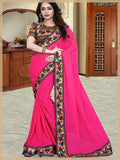 Urban-Naari-21602-Pink-Colored-60-gm-Georgette-Printed-Saree