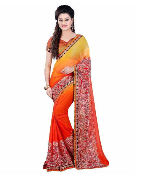 fs-13-trendy-festival-special-sarees-bandhani-print-broad-border-two-shade-georgette-saree