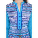 Designer Stylish Cotton Blue Kurti For Women