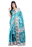Shop Online Gorgeous Blue Printed Saree for Women