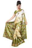 Latest Green Printed Gorgeous Saree For Women